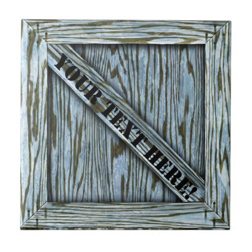 That's just Crate! - Blue Wood - Small Square Tile