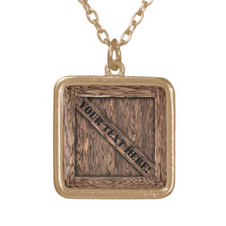 That's just Crate! - Oak Wood - Gold Plated Necklace