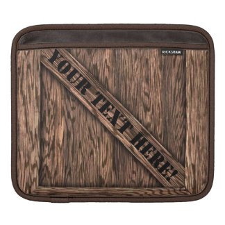 That's just Crate! - Oak Wood - iPad Sleeves