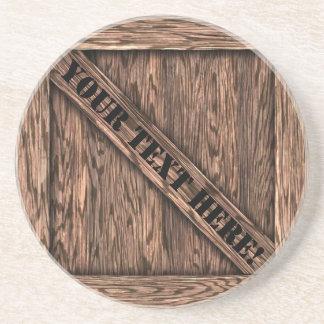 That's just Crate! - Oak Wood - Sandstone Coaster