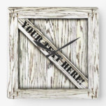 That's just Crate! - White Wood - Square Wallclocks