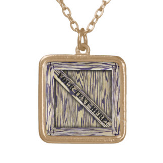 That's just Crate! - Yellow Wood - Gold Plated Necklace