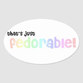 That's just fedorable! oval sticker