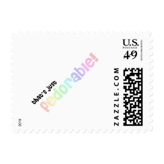 That's just fedorable! postage