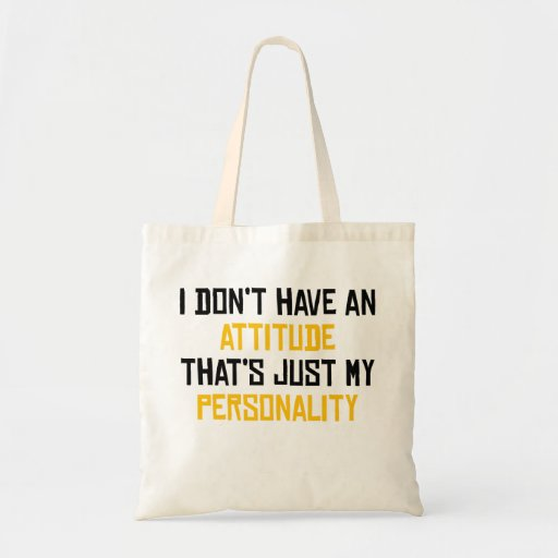 That's Just My Personality Canvas Bag