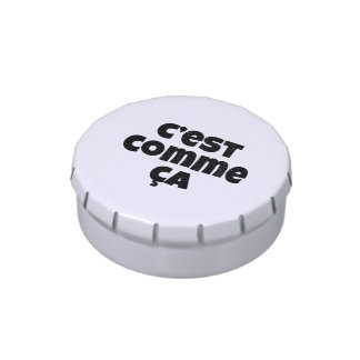 That's Just the Way it is - C'est Comme Ca French Jelly Belly Tin