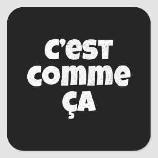That's Just the Way it is - C'est Comme Ca French Square Sticker