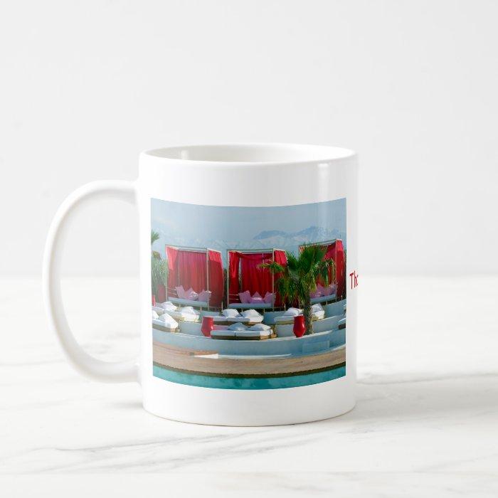 """That's life"", Morocco luxury poolside Coffee Mug"