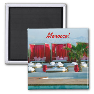 """""""That's life"""", Morocco luxury poolside Magnet"""
