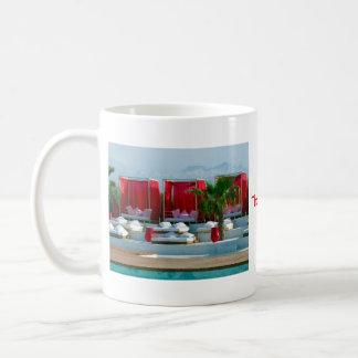 """That's life"", Morocco luxury poolside Coffee Mugs"