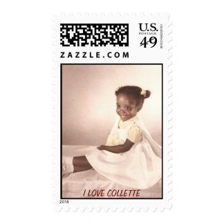 That's me Collette age two and a half years old Postage Stamp