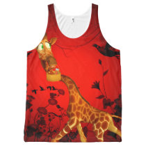 That's my easter chocolate, funny giraffe All-Over-Print tank top