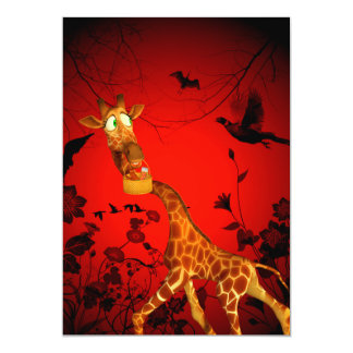 That's my easter chocolate, funny giraffe card