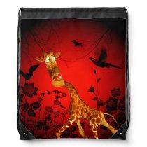 That's my easter chocolate, funny giraffe drawstring bag