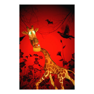 That's my easter chocolate, funny giraffe stationery