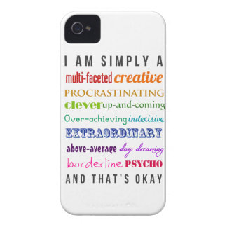 That's Okay case - Multipotentialite Inspiration iPhone 4 Case-Mate Cases