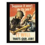 Thats Our Job World War 2 Flyer Design