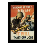 Thats Our Job World War 2 Stationery Note Card