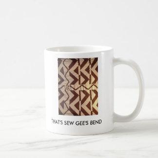 THAT'S SEW GEE'S BEND CLASSIC WHITE COFFEE MUG