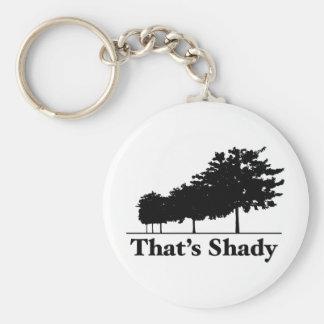 That's Shady Basic Round Button Keychain