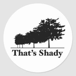That's Shady Classic Round Sticker