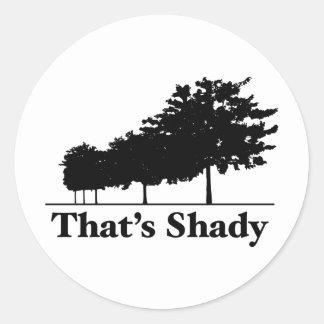 That's Shady Classic Round Sticker