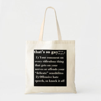 That's So Gay Canvas Bag