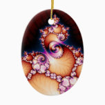 Thats The Point - Fractal Art Ceramic Ornament