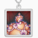 Thats The Point - Fractal Art Silver Plated Necklace