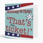 That's the ticket! Romney & Ryan 2010 Vinyl Binders