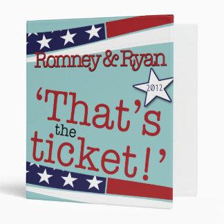 That's the ticket! Romney & Ryan 2010 Binder