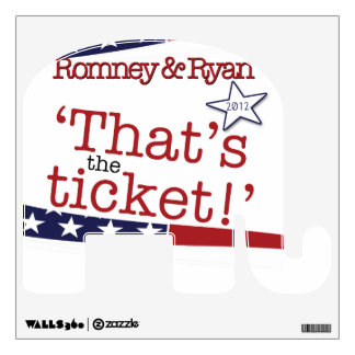 That's the ticket! Romney & Ryan 2010 Wall Decal