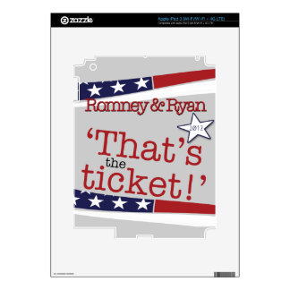 That's the ticket! Romney & Ryan Decals For iPad 3