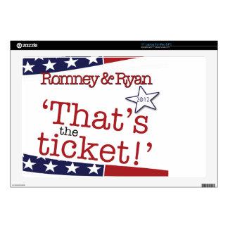 That's the ticket! Romney & Ryan Laptop Skin