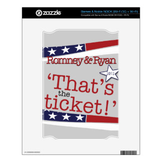 That's the ticket! Romney & Ryan NOOK Skins