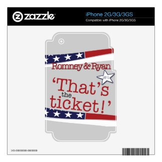 That's the ticket! Romney & Ryan Skin For iPhone 3G