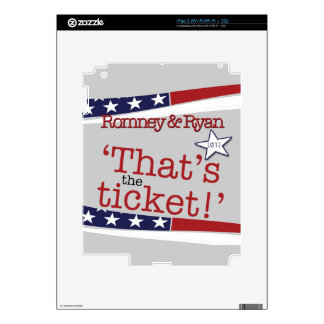 That's the ticket! Romney & Ryan Skin For iPad 2