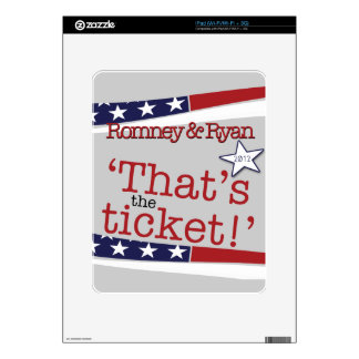 That's the ticket! Romney & Ryan Skins For iPad