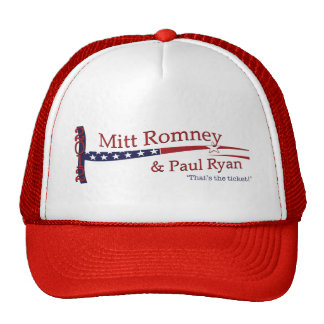 That's the ticket! Romney & Ryan Trucker Hat
