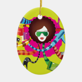 Thats the way we girls are !! ceramic ornament