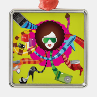 Thats the way we girls are !! metal ornament