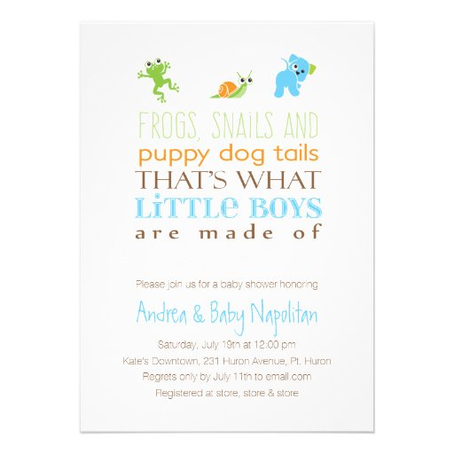 That's What Little Boys Are Made Of  | Baby Shower Personalized Invite