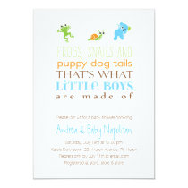 That's What Little Boys Are Made Of  | Baby Shower Invitation