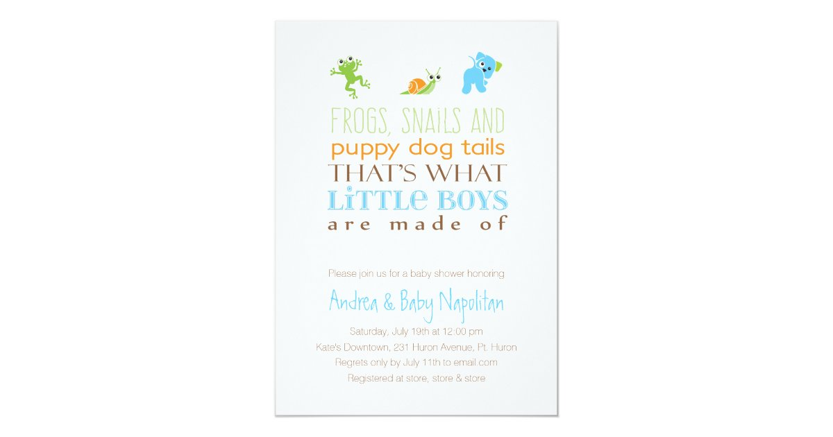 That\'s What Little Boys Are Made Of | Baby Shower Invitation ...