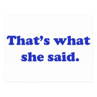 That's What She Said 2 Postcard