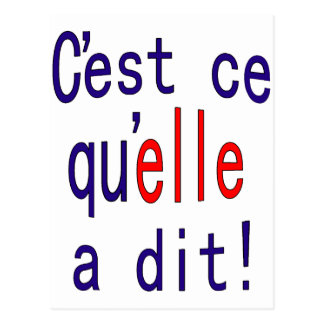 That's what she said! (French) Post Card