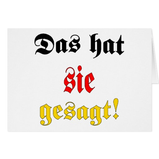 That's what she said! (German) Cards
