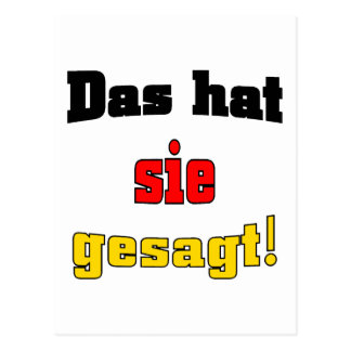 That's what she said! (German) Postcards