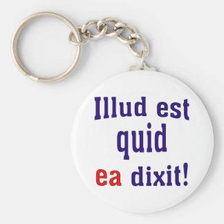 That's what she said! (Latin) Keychain