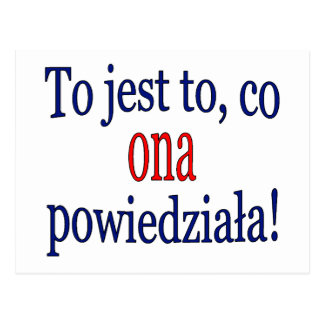 That's what she said! (Polish) Postcards